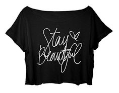 Crop Top Lyrics Tee Shirt Stay Beautiful Shirt Taylor Swift song