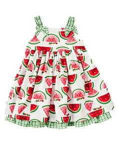 Watermelon Gingham Dress this site had cute girls/boys clothes for good prices