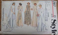 Vintage Wedding Dress Pattern 1970s Style 1787 Size 10, vintage wedding, boho style by strangenotions on Etsy https://www.etsy.com/listing/265500123/vintage-wedding-dress-pattern-1970s