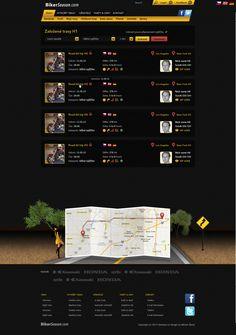 Bikerseason.cz Bike, Motorbike, Motorcycle, User Interface, UX, UI, Web Design, Illustration