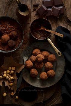 Trufas de chocolate rellenas de avellana - Cook me tender
