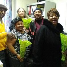 """TPP Board Member and Public Relations Manger Allen Martin (left) distributes Bouquet of Flowers.  Our """"LOVE YOUR COMMUNITY IS REACHING NEW BOUNDARIES! totallypositiveproductions.com"""