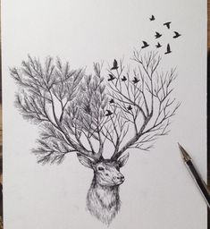 This gives me the idea to incorporate all seasons into a set of antlers...
