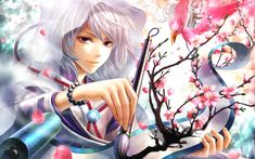 Download Wallpaper 3840x2400 Anime, Girl, Hood, Brush, Painting, Drawing, Art Ultra HD 4K HD Background