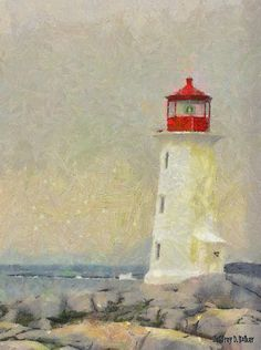 This light house painting will bring character and personality to the room