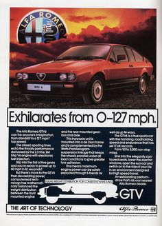 Alfa Romeo GTV6 the ride of your life.