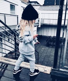 Our Anak Neutral sweats + kids sneakers. Our Anak Little Kid Fashion, Cute Kids Fashion, Little Girl Outfits, Cute Outfits For Kids, Toddler Girl Outfits, Baby Girl Fashion, Toddler Fashion, Fashion Women, Child Fashion