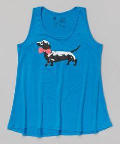 Love this Ocean Blue Dressed Up Dachshund Tunic by Girls' Best Friend on #zulily! #zulilyfinds