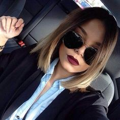 Hair | cut & color | cut : shoulder length / color : ombré - dark brown to…