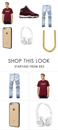 """""""wine red"""" by johndell23 ❤ liked on Polyvore featuring HUF, Incase and Beats by Dr. Dre"""