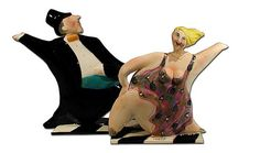Whimsical tea pots. I think they're Dancing with the Stars fans. ;)