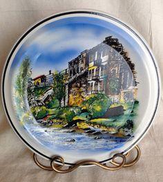Beautiful hand painted ceramic display plate of by Lulubellebazaar, $12.00