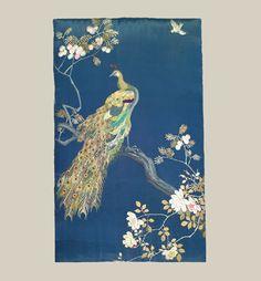 "Japanese  Embroidered Panel - Latter Edo (1800-1850) - 24"" x 41"".  Yorke Antique Textiles"
