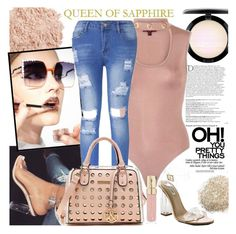 QUEEN OF SAPPHIRE by gaby-mil on Polyvore featuring polyvore, fashion, style, MAC Cosmetics, La Mer, Smith & Cult, Fendi, Balmain, clothing and queenofsapphire