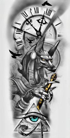 Aztec Tribal Tattoos, Tribal Shoulder Tattoos, Mens Shoulder Tattoo, Nautical Tattoos, Full Sleeve Tattoo Design, Forearm Tattoo Design, Tattoo Design Drawings, Tattoo Designs, Egyptian Tattoo Sleeve