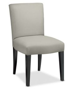 Fitzgerald Dining Side Chair, Mahogany, Belgian Linen, Solid, Stone