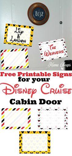 Free Printable Disney Cruise Cabin Door Decorations!