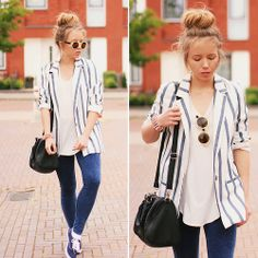 Wioletta Mary Kate - Choies Blazer, Takko Fashion Bag, Vans Shoes - ♥ My Lovely Big Messy Bun ♥