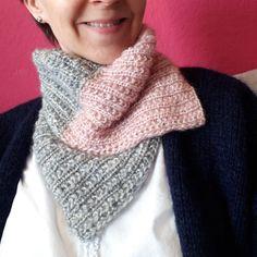 Free knitting pattern Olympia snood and hat Boho Crochet, Crochet Flowers, Laine Chunky, Free Knitting, Knitting Patterns, Fingerless Mitts, Woven Wrap, Poncho, Garter Stitch