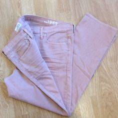 Gap 1969 33/16r sexy boyfriend jeans Color is mauve. In excellent condition. No rips or stains. Inseam is 27 inches. Sexy boyfriend style. GAP Jeans Boyfriend