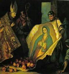El milagro de la Virgen de Guadalupe. San Juan Diego.