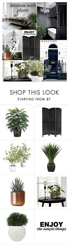 """""""Decorate With Plants"""" by elena-777s ❤ liked on Polyvore featuring interior, interiors, interior design, home, home decor, interior decorating, WALL, plants and planters"""