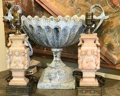 Antique Carved Asian Motif Lamps  14' High   Clutter Antiques 5015 Lovers Lane Dallas, TX 75209