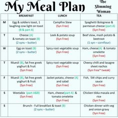 Easy Slimming World Recipes, Slimming World Diet Plan, Slimming Word, Slimming World Meal Planner, Melt Belly Fat, Reduce Belly Fat, Lose Belly Fat, Lose Fat, Ways To Lose Weight