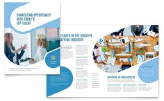 Employment Agency Brochure Template Design by StockLayouts