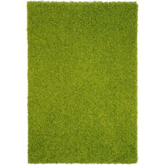 Shag Solid Green One Color Area Rug (6'7 x 9'3) | Overstock.com Shopping - Great Deals on 7x9 - 10x14 Rugs