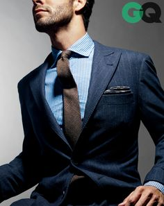 Brown + Blue | The new duo combination for your office style | Great suit!