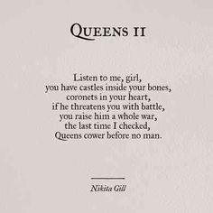 30 Powerful Quotes From Poet & Author Nikita Gill, Including An Exclusive Interv. - 30 Powerful Quotes From Poet & Author Nikita Gill, Including An Exclusive Interview On Her Newest Book, 'Fierce Fairytales', - Poetry Quotes, Book Quotes, Me Quotes, Motivational Quotes, Inspirational Quotes, Funny Quotes, Beauty Quotes, Queen Quotes, Girl Quotes