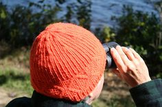 """Ravelry: Hunting Season Hat pattern by Knitwise Design. Quick to knit in aran weight yarn in 3 sizes. Ribbing and a simple cable design at the brim. In Briggs and Little """"Heritage"""" wool yarn. #knitwisedesign"""
