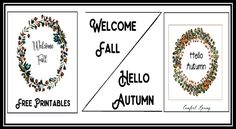 Hello #Autumn, Welcome #Fall #Printables – Comfort Spring Station