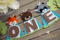 WOODLAND BANNER, fox banner, woodland highchair banner by PaperDreamCre on Etsy https://www.etsy.com/listing/450195972/woodland-banner-fox-banner-woodland