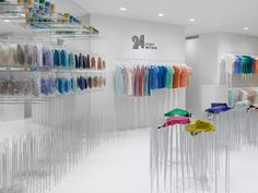 24 Issey Miyake store by Nendo, Tokyo Shibuya Invisible Fixtures #fixtures #retail