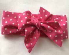 Headwrap / baby girl headwrap / gray dots by elizabethsarahanne
