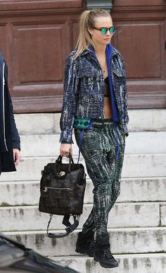 Hip, stylish, cool, trendy, street style look.. Sometimes it pays to wear sneakers and put away the heels  #women fashion