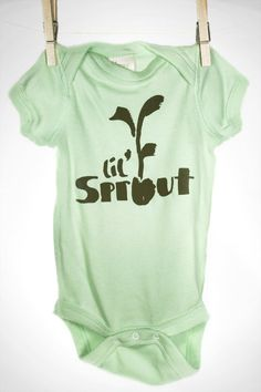 Organic Baby Clothing Lil' Sprout Onesie Unisex by ToddAh on Etsy, $15.00 - for my Clover baby one day