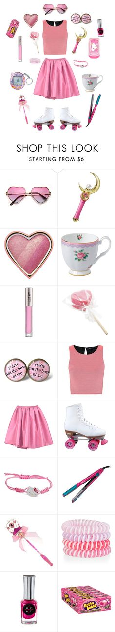 """""""Bubblegum"""" by conquistadorofsorts ❤ liked on Polyvore featuring Bandai, Too Faced Cosmetics, Royal Albert, CARGO, Hello Kitty, Bed Head by TIGI, Disney, Accessorize and Only Fingers + Toes"""