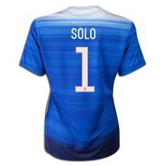 2015 FIFA Women's World Cup USA Hope Solo 1 Women Away Soccer Jersey