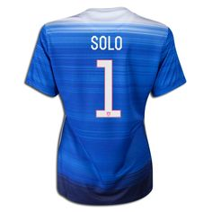 2015 FIFA Women's World Cup USA Hope Solo 1 Women Away Soccer Jersey