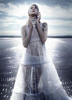 Nastya Sten wears Alexander McQueen by Phil Poynter for Vogue Germany