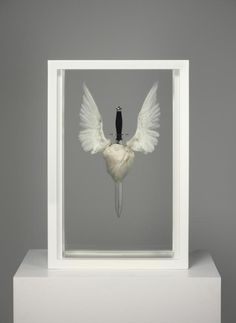 Damien Hirst - Sacred Heart (with Hope) - 2007    looks more like the death of hope to me.