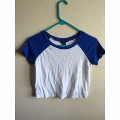 Baseball Tee Crop Top Baseball tee cropped top. Size small. For more info or have any questions comment down below! Forever 21 Tops Crop Tops