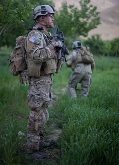 U.S. Army Special Forces soldier pictured while on patrol in Uruzgan, Afghanistan, 2010.