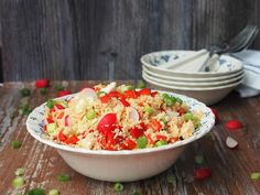 Couscous, Cobb Salad, Feta, Salsa, Mexican, Ethnic Recipes, Red Peppers, Salsa Music, Mexicans