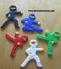Christy's Savories: Lego Ninjago Cupcakes & Cookies