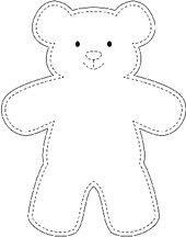 Make an easy teddy bear teddy bears pinterest teddy bear diy teddy bear teddy bear outline teddy bear template dog outline teddy maxwellsz