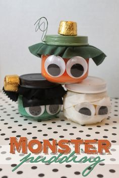We love this festive idea to reuse your empty Beech-Nut jars! You can put small snacks in these cute monsters or just use as a fall decoration!